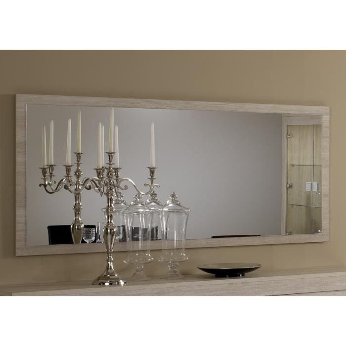 Miroir pisi couleur ch ne clair achat vente miroir for Miroir chene clair