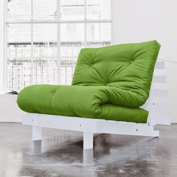 Fauteuil convertible roots 90 gris futon vert achat vente fauteuil pin ma - Fauteuil futon convertible 1 place ...