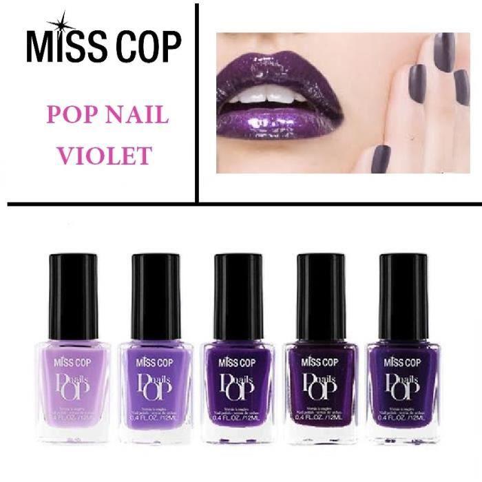 lot de 5 vernis violet miss cop achat vente vernis a ongles lot de 5 vernis violet miss. Black Bedroom Furniture Sets. Home Design Ideas