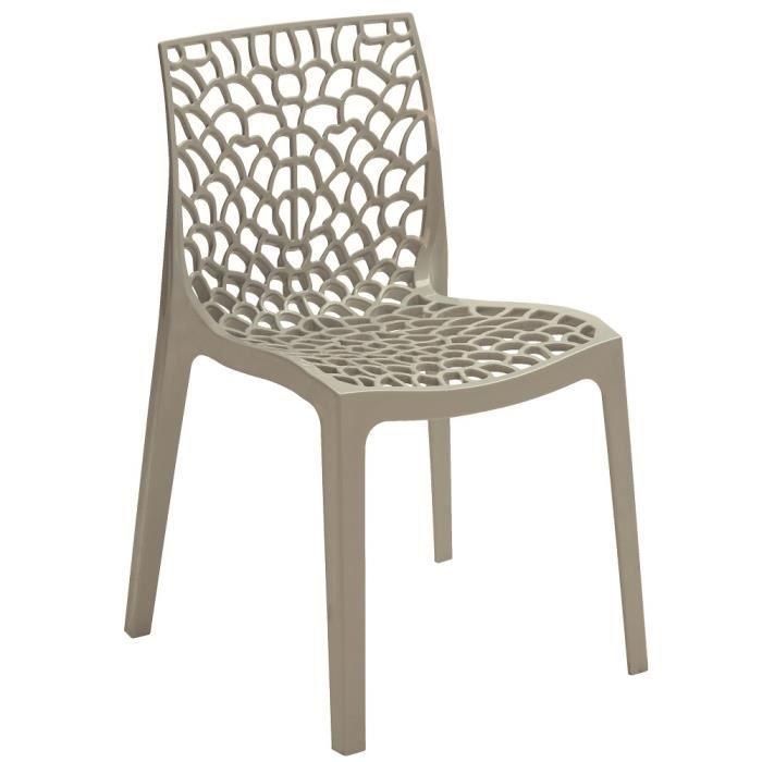 chaise design gruyere gris perle lot de 2 achat vente