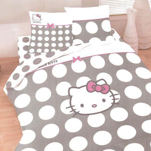 maison linge parure de lit hello kitty f  auc