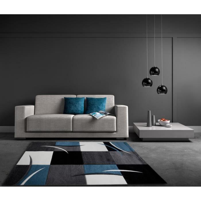 Allotapis Tapis D 39 Int Rieur Pour Salon Bleu California 160x230cm Bleu Achat Vente