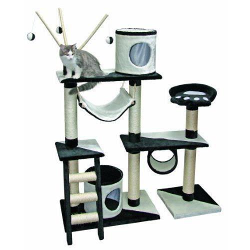 kerbl creativ arbre chat noir blanc h achat. Black Bedroom Furniture Sets. Home Design Ideas