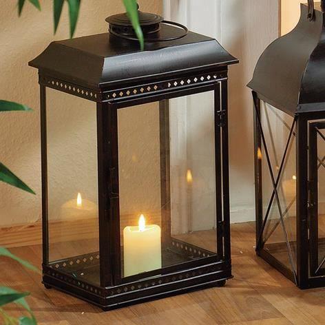 dragimex lanterne noire 25x20x45cm 24020 achat vente. Black Bedroom Furniture Sets. Home Design Ideas