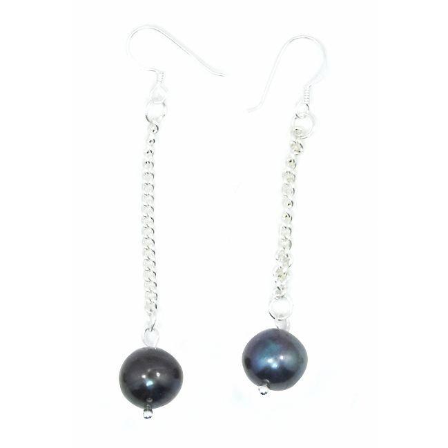 boucles d 39 oreilles perle noire achat vente boucle d 39 oreille boucles d 39 oreilles perle noire. Black Bedroom Furniture Sets. Home Design Ideas
