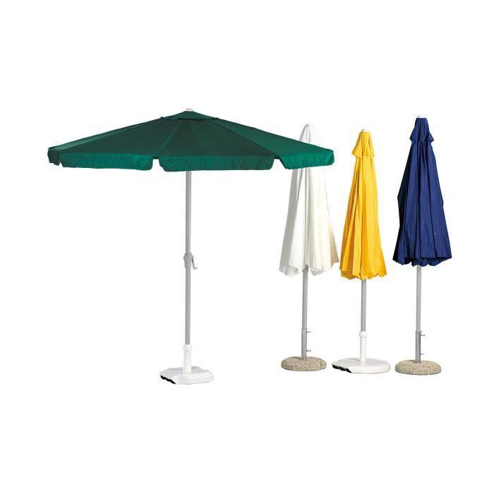 Hevea parasol de jardin jaune 250cm 6 baleines achat vente parasol ombrage hevea - Toile de parasol 8 baleines ...