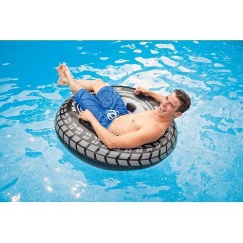 Bouee pneu adulte 1 19 m intex achat vente jeux de for Achat piscine intex