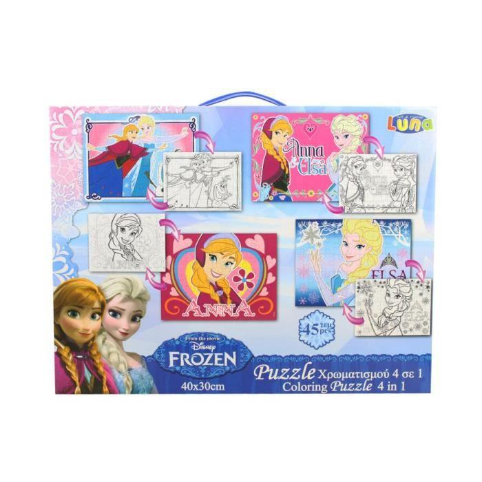 Puzzle fille 4x45 pcs disney reine des neiges rose achat - Jeux de fille reine des neiges ...