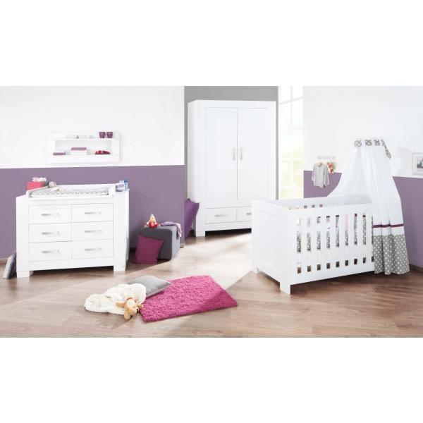Chambre b b ice laqu blanc mat achat vente chambre compl te b b 4035 - Chambre bebe cdiscount ...