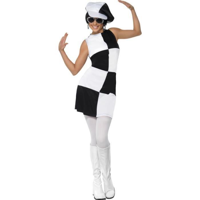 robe ann es 60 damier noir et blanc achat vente d guisement panoplie cdiscount. Black Bedroom Furniture Sets. Home Design Ideas