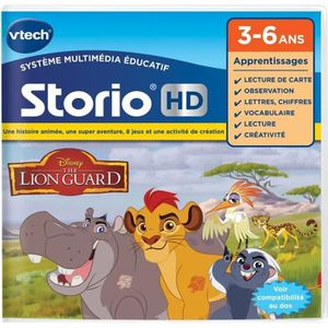 VTECH Jeu Hd Storio - La Garde Du Roi Lion