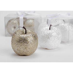 BOULE DE NOËL  Boite 4 pommes déco  a suspendre Amadeus, decorat