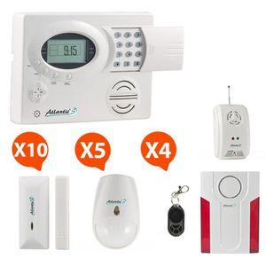 sirene alarme exterieure avec flash et detecteur de mouvement achat vente sirene alarme. Black Bedroom Furniture Sets. Home Design Ideas
