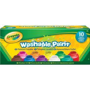 JEU DE PEINTURE CRAYOLA 10 Pots de peinture lavable