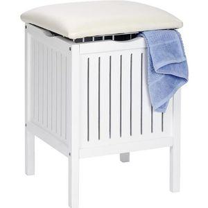 tabouret rangement salle de bain achat vente tabouret rangement salle de bain pas cher. Black Bedroom Furniture Sets. Home Design Ideas