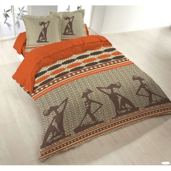 parure drap plat drap housse 2 taies d oreiller zulika. Black Bedroom Furniture Sets. Home Design Ideas