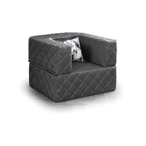 fauteuil pouf design capitonn coloris gris achat vente fauteuil gris cadeaux de no l. Black Bedroom Furniture Sets. Home Design Ideas