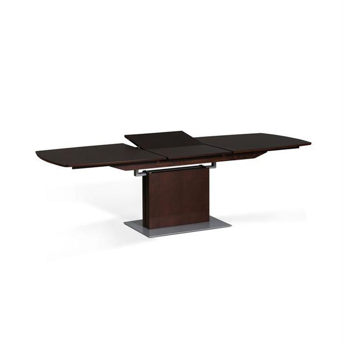 Table de repas design wengue avec allonge maguy achat - Table allonge bebe ...