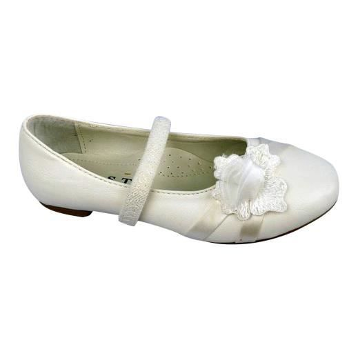chaussures de c r monie fille dana blanche cr me blanc. Black Bedroom Furniture Sets. Home Design Ideas