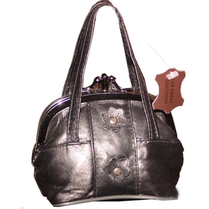 Porte monnaie femme cuir forme sac main 2 poches pierre cedric prix sympa noir achat - Porte sac a main ...