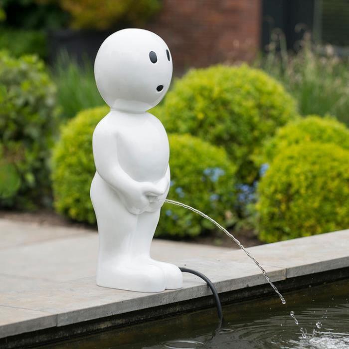 Fontaine boy blanc 67 cm blanc achat vente fontaine de for Achat cailloux blanc