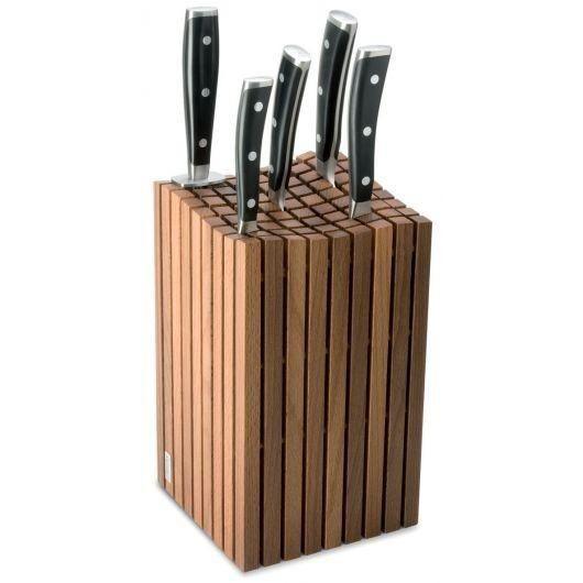 Bloc couteaux design wusthof baguettes en bois achat vente couteau de cuisine bloc - Bloc en bois pour couteau ...