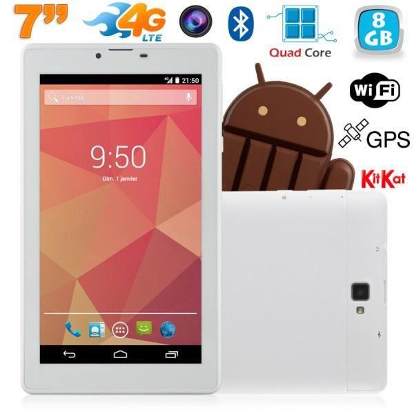 tablette 7 pouces 4g android kitkat gps bluetooth quad. Black Bedroom Furniture Sets. Home Design Ideas