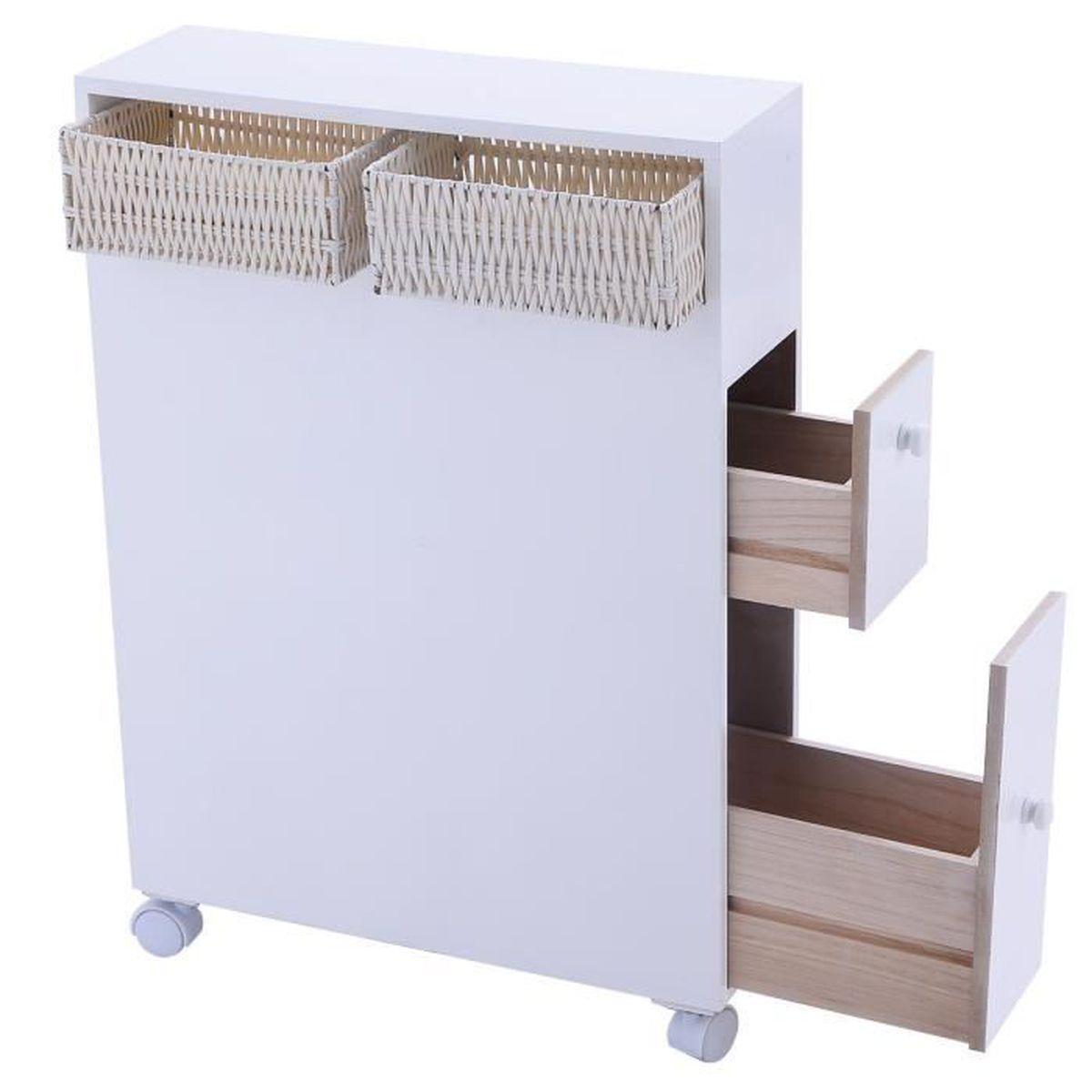 Armoire De Salle De Bain Toilette Tag Re De Toilette Rangement De Meuble Blanc Achat Vente