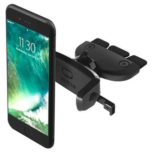 IOTTIE Support Clip Trappe CD Easy One Touch Mini pour Smartphone - Noir