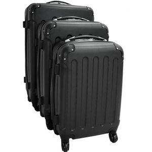 SET DE VALISES Set de 3 valises Trolley noires - Valises rigides