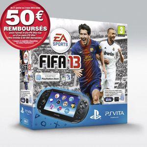 CONSOLE PS VITA PACK PS VITA WIFI + FIFA 13 + CARTE MÉMOIRE 4 GO