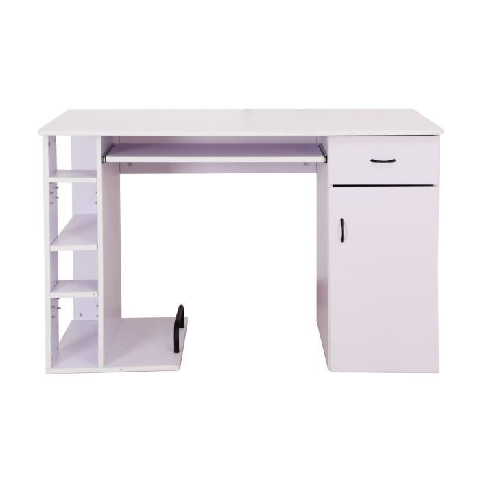 Bureau pour ordinateur table meuble pc informatique for Meuble bureau hauteur 70 cm