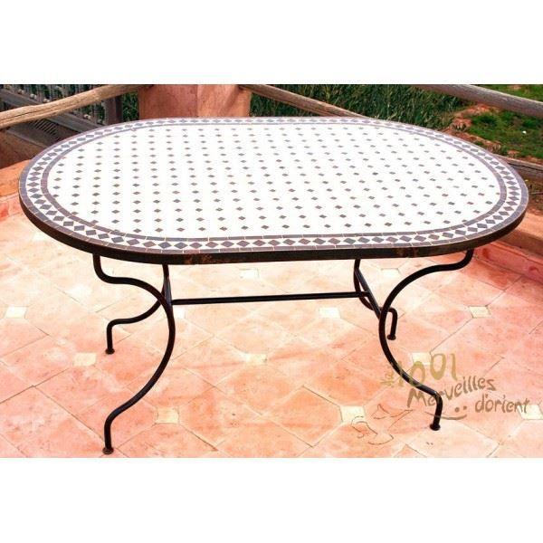 Table de jardin en teck massif ovale - Achat Vente Table de jardin en