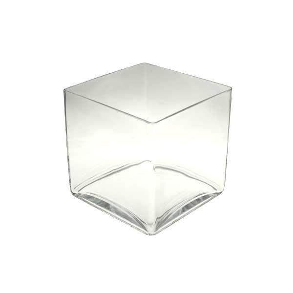 vase cube d co en verre 20x20x20cm achat vente vase soliflore cdiscount. Black Bedroom Furniture Sets. Home Design Ideas