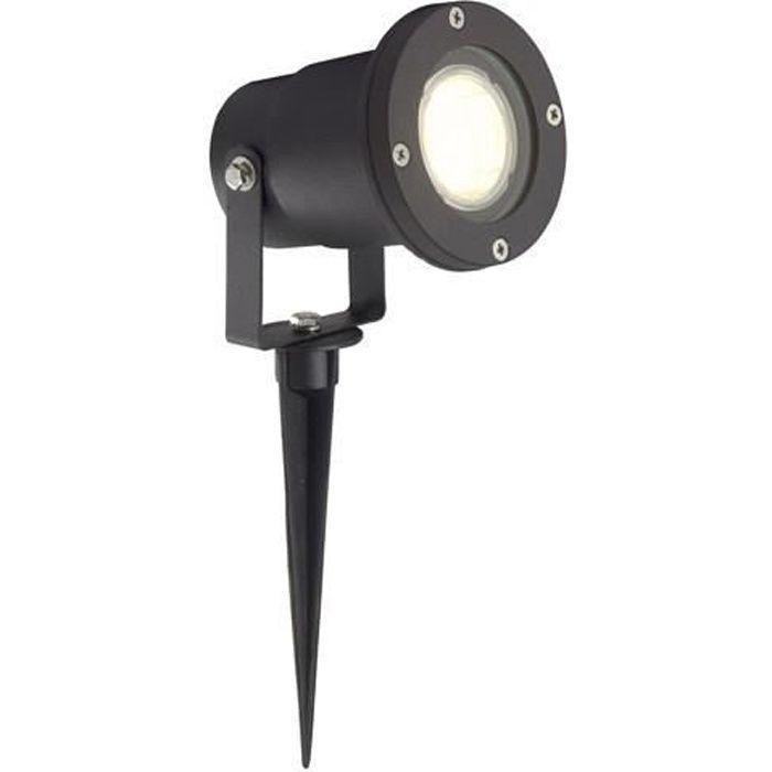 Lampe exterieure noire a piquer led achat vente spot for Lampe led exterieure