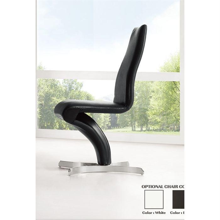 Chaises design noir neli par2 achat vente chaise pu for Soldes chaises design