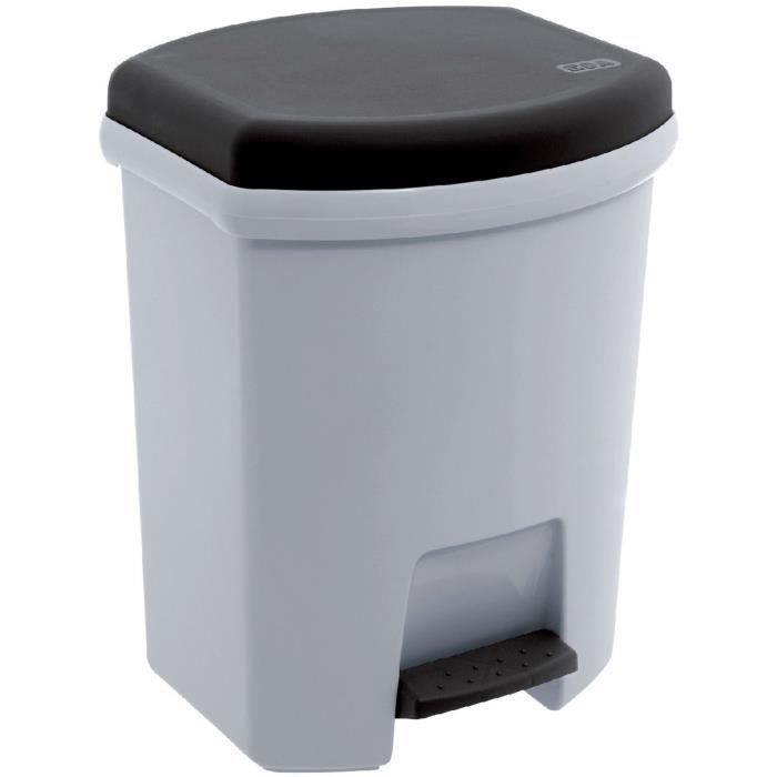 Poubelle 27l p dale eda gris perle couvercle anthracite achat vente po - Poubelle recyclage maison ...