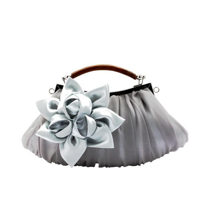 keral aux femmes doux fleur d coration cha ne embrayages sacs de soir e argent violet achat. Black Bedroom Furniture Sets. Home Design Ideas