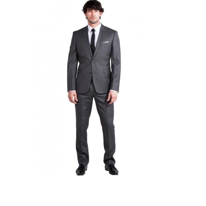 costume classique de mariage 2 pi ces homme coloris gris. Black Bedroom Furniture Sets. Home Design Ideas