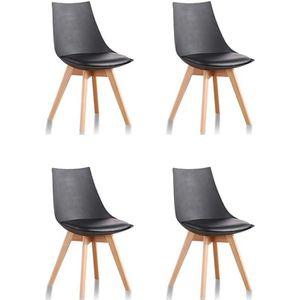 Chaises de cuisine et de salle a manger chaise design bois for Lot 4 chaises salle manger