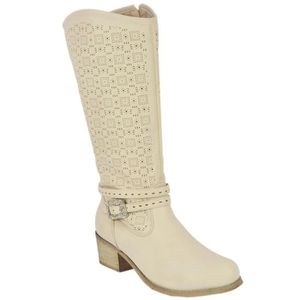 BOTTE Bottes Ajourées Strass Type Country