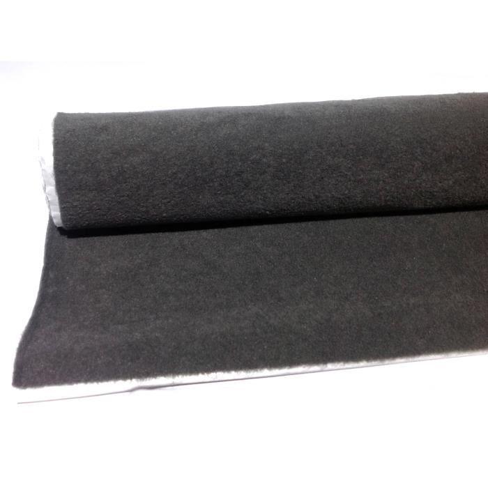 Moquette adh sive acoustique 140 x 70 cm gris pour voiture for Moquette acoustique adhesive