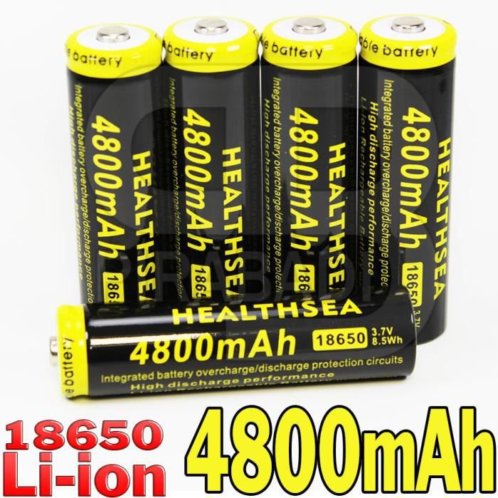5 pile accu rechargeable 18650 li ion 4800mah battery. Black Bedroom Furniture Sets. Home Design Ideas