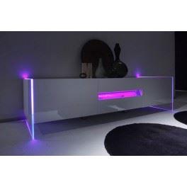 Meuble tv bas design lumineux blanc laqu avec achat vente meuble tv me - Meuble tv design lumineux ...