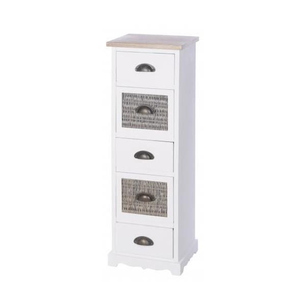 Meuble de rangement colonne 5 tiroirs achat vente for Petit meuble de rangement tiroir