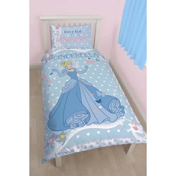 Parure de lit cendrillon disney princese achat vente parure de couette - Cdiscount parure de lit ...
