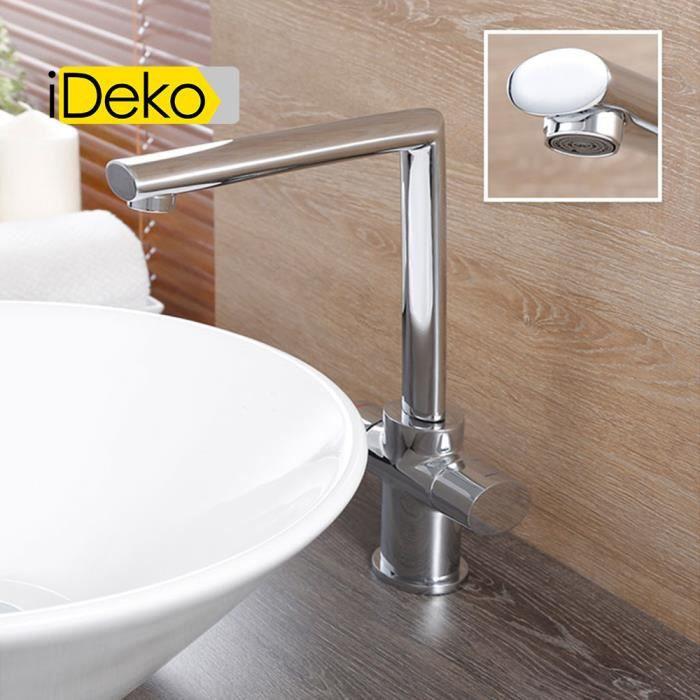 Ideko robinet mitigeur lavabo salle de bain haut design for R s bains pharmacy