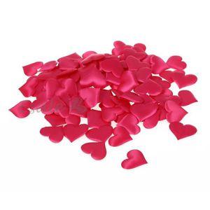FLEUR ARTIFICIELLE 100pcs Confettis Pétales Cœur Déco Table Mariage F
