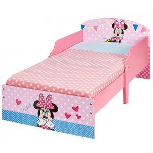 LIT COMPLET Lit Enfant 70 x 140 cm P'tit Bed Cosy Disney Minni