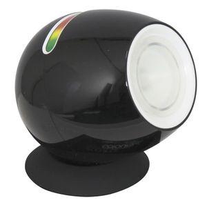 LAMPE A POSER RANEX Mini lampe noire LED à couleurs changeantes